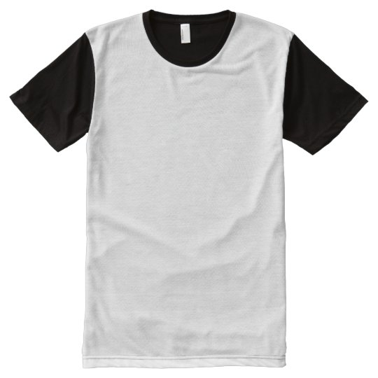 Custom Men's American Apparel All-Over Printed Panel T-Shirt