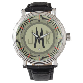 Mens Personalized Monogram Watch