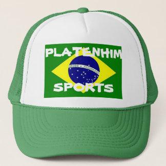 Mens Platenhim Sports Brazil Trucker hat