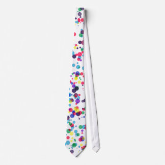 Mens Polka Dot Clown Bright Spotty Tie