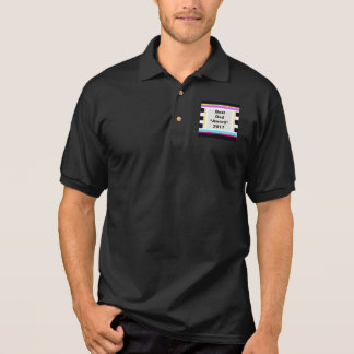 Men's Polo Shirts Shirt with BEST DAD AWARD 2017