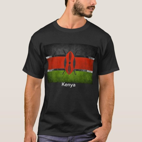 Men's quality Kenyan flag T-shirt