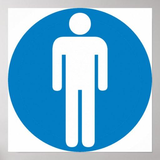 Men's Restroom Highway Sign