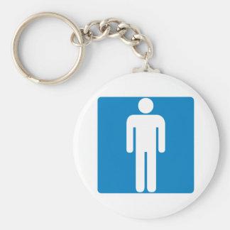 Men's Restroom Highway Sign Key Ring