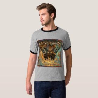 Men's Ringer Black Butterfly T-Shirt