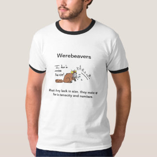 Men's Ringer T: The Majestic Werebeaver T-Shirt