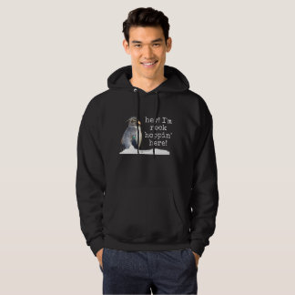 """Men's rockhopper penguin """"hey I'm hoppin"""" hoodie"""