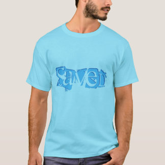 Men's Saved Shirt-Turquoise Blue T-Shirt