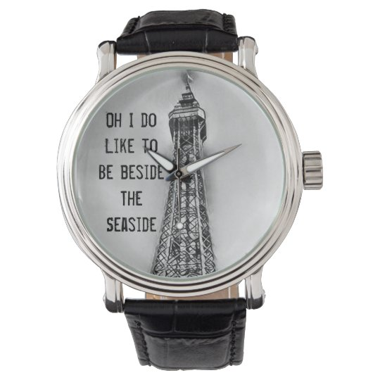 Mens seaside Blackpool tower themed watch