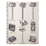 Men's shaving equipment, from a trade catalogue of notebook