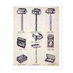 Men's shaving equipment, from a trade catalogue of postcard