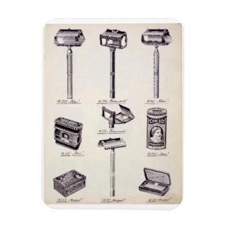 Men's shaving equipment, from a trade catalogue of rectangular photo magnet