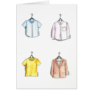 Men's Shirt Notecards Greeting Card