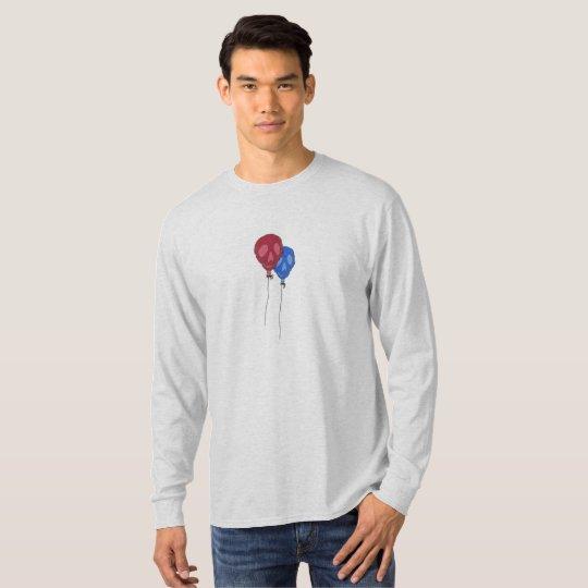 Men's Skull Balloon Long Sleeved T T-Shirt