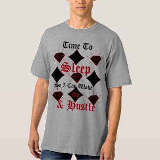 Men's Sleeping T-Shirt, Wake Up & Hustle T-Shirt