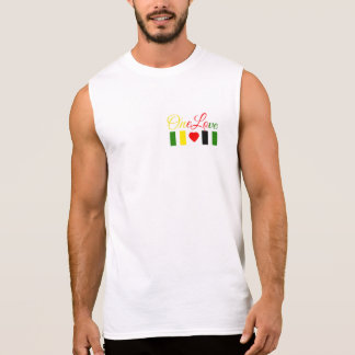 "Men's Sleeveless Tshirt ""One Love"""