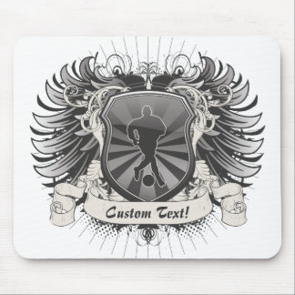 Mens Soccer Crest Mouse Pad