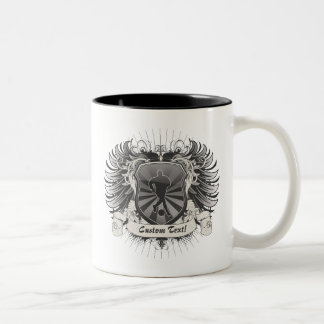 Mens Soccer Crest Two-Tone Mug