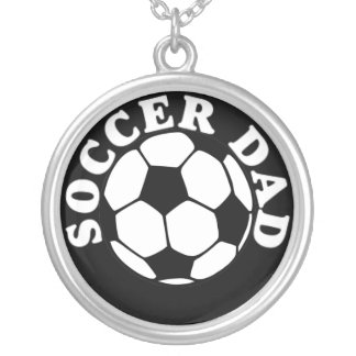 Mens Soccer Dad Necklace