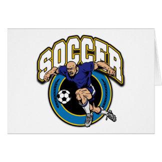 Men's Soccer Logo Greeting Cards
