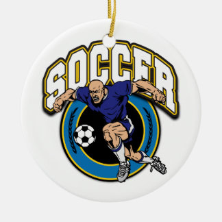 Men's Soccer Logo Christmas Tree Ornaments