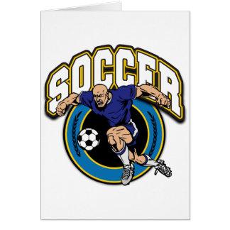 Men's Soccer Logo Greeting Card