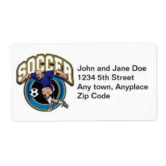 Men's Soccer Logo Shipping Label