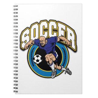 Men's Soccer Logo Note Books