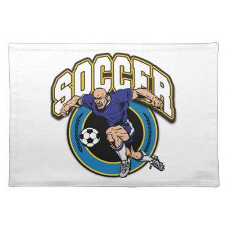 Men's Soccer Logo Place Mats