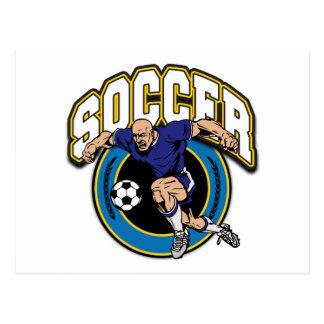 Men's Soccer Logo Post Card