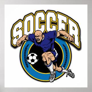 Men's Soccer Logo Poster