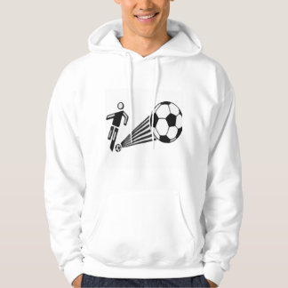 Mens Soccer Sweater Hooded Pullover