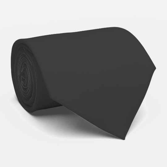 Mens Solid Plain Dark Grey Elegant Silky Neck Tie