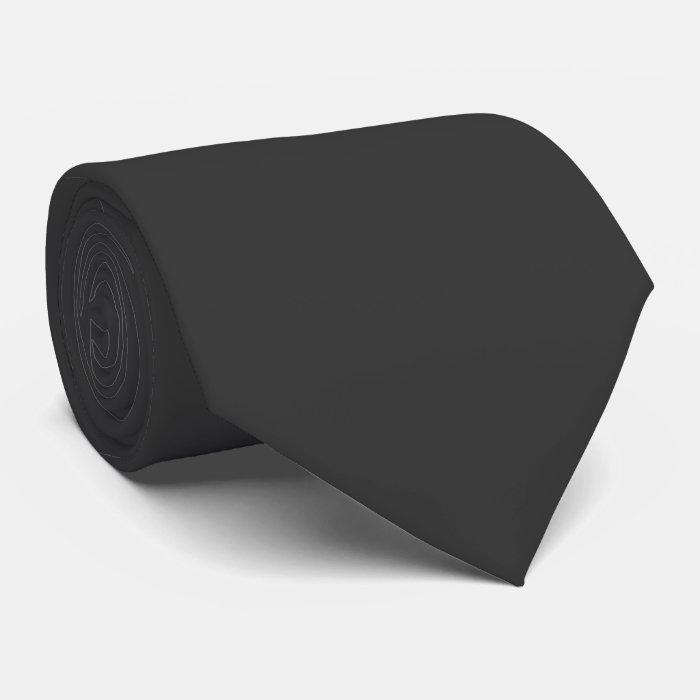 Mens Solid Plain Dark Grey Elegant Silky Neck Tie