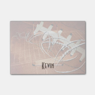 mens sports football his name custom post-it notes