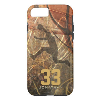 mens sports slam dunk basketball iPhone 8/7 case