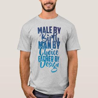 Men's Street Male By Birth T-Shirt (Grey/Blue)