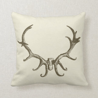 Men's Stylish Hunting Brown Deer Antler Retro Stag Cushion