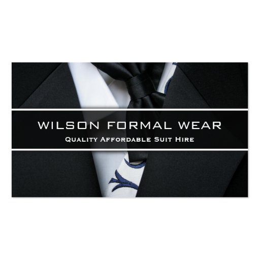 Mens Suit Formal Wear, Photo Business Card