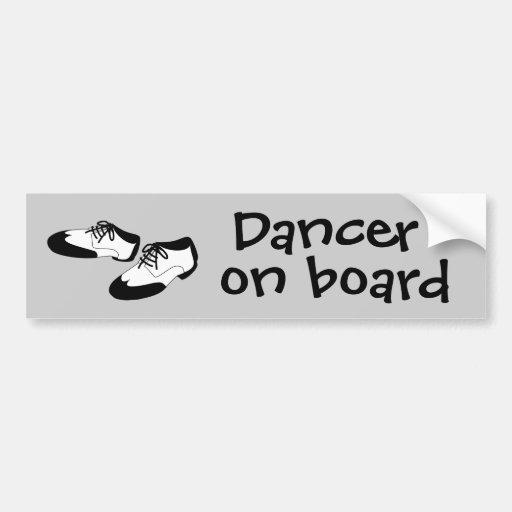 Mens Swing Dance Shoes Dancer on Board Spats Bumper Sticker