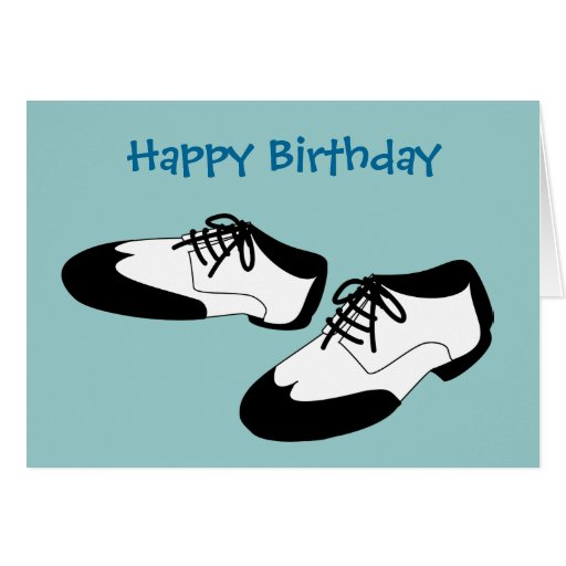Mens Swing Dance Shoes Happy Birthday Spats Cards