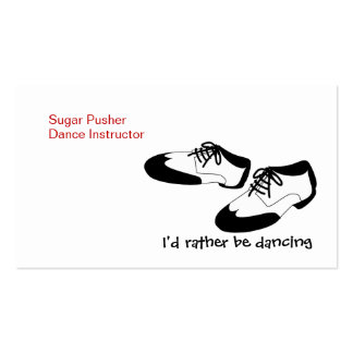 Mens Swing Dance Shoes Id Rather Be Dancing Spats Double-Sided Standard Business Cards (Pack Of 100)