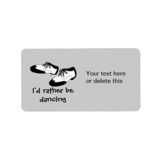 Mens Swing Dance Shoes Id Rather Be Dancing Spats Address Label