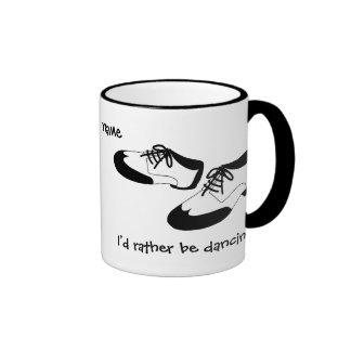 Mens Swing Dance Shoes Id Rather Be Dancing Spats Ringer Coffee Mug