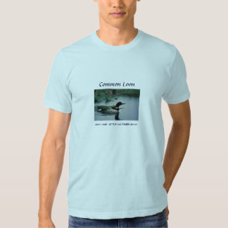 Men's T-Shirt /  Common Loon on Water