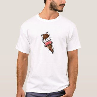 MEN'S T-SHIRT TRIPLE SCOOP ICE CREAM CONE