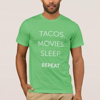 Men's Tacos, Movies, Sleep Shirt
