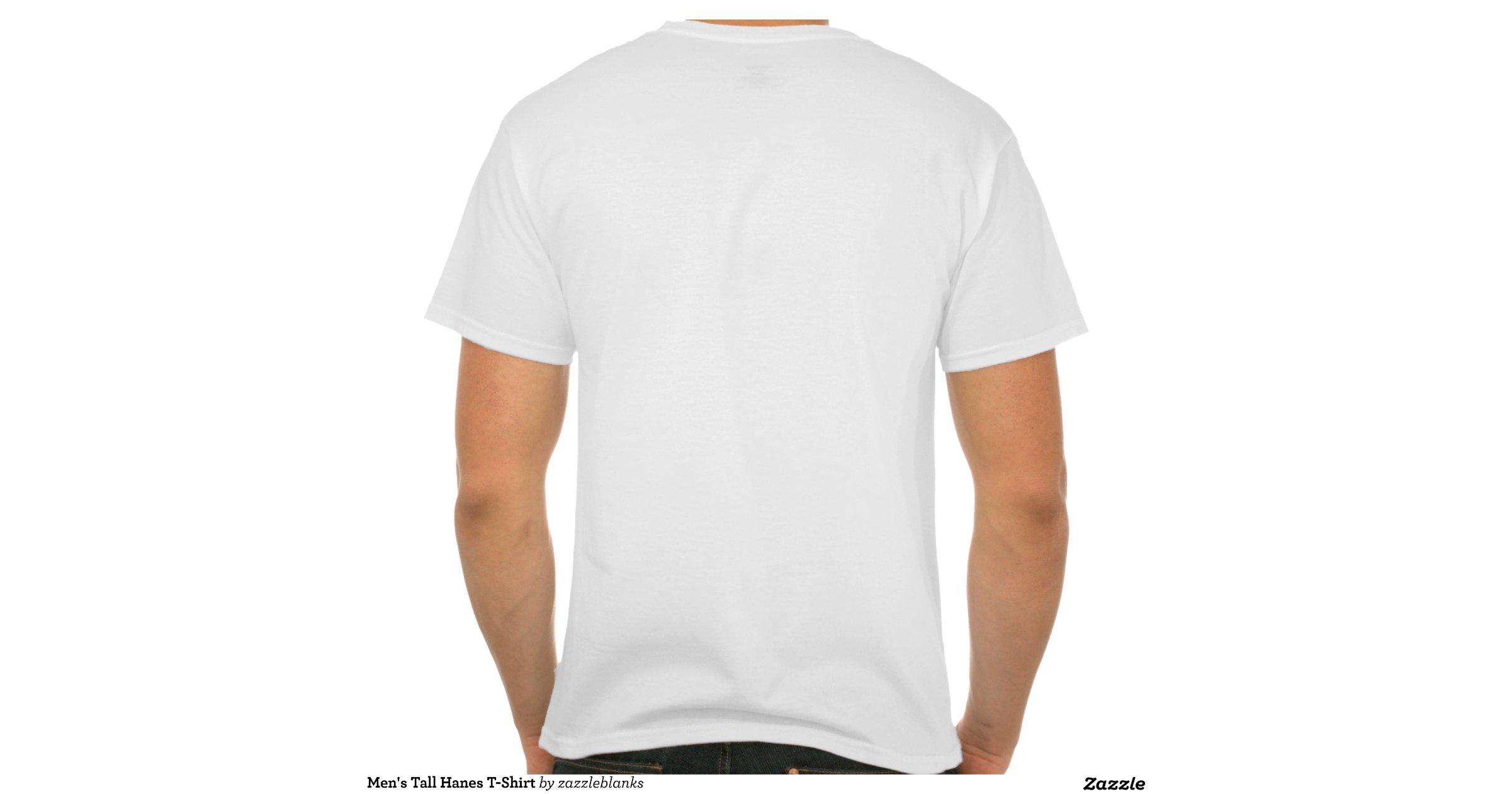 Men 39 S Tall Hanes T Shirt White Zazzle