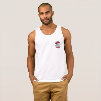 Men's tank top with New Circle Theatre logo