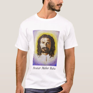 men's tee shirt with portrait of Avatar Meher Baba